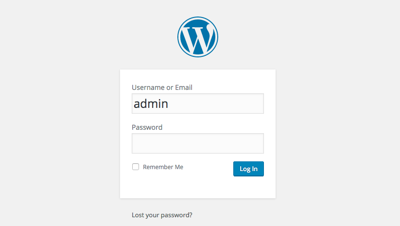 Avoid Using admin as your WordPress Username